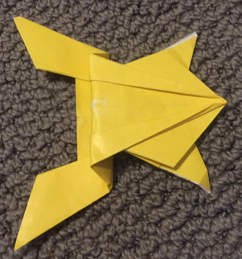 How To Make An Origami Jumping Frog - Folding Instructions ...   845x789